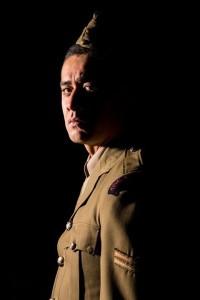 Shadon Meredith as Lance Corporal Simi Bishop — Photograph: Andrew Malmo